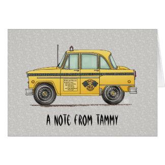 Niedliches Taxi-Fahrerhaus Karte