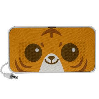 Niedliches Tiger-Gesicht Laptop Speaker