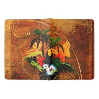Niedliches toucan mit Blumen Extra Großes Moleskine Notizbuch