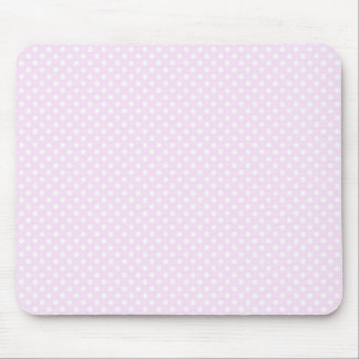 Niedliches Trendy rosa weißes Polka-Punkt-Muster Mousepad