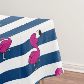 niedliches tropisches rosa Babyflamingo-Marineblau Tischdecke