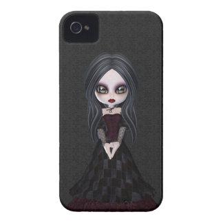 Niedliches u. Creepy kleines Goth iPhone 4 Case-Mate Hülle