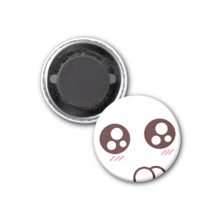 Niedliches u. kleines kawaii Kitty emoji Runder Magnet 3,2 Cm