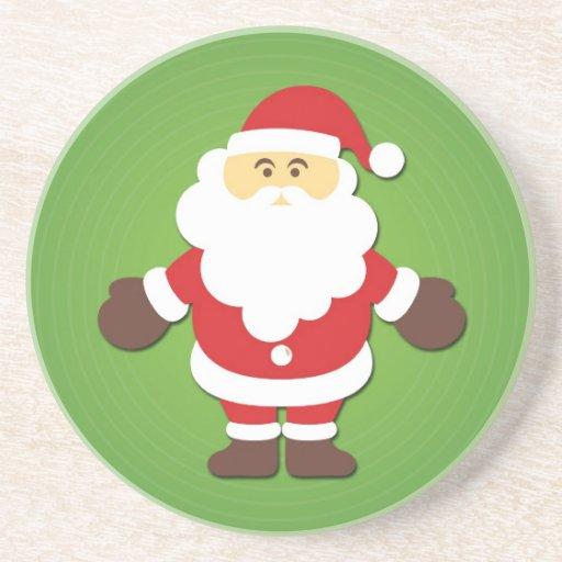 Niedliches u. lustiges Weihnachten Weihnachtsmann Untersetzer