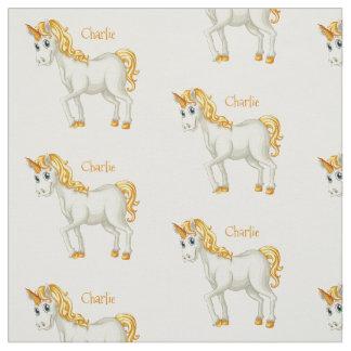 Niedliches Unicorn-Namegewebe Stoff