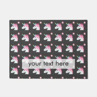 Niedliches Unicorns-Blume Emoji Polka-Punkt-Muster Türmatte
