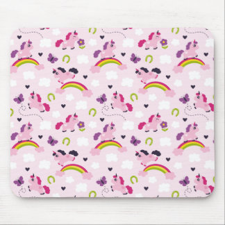 Niedliches Unicorns-Muster Mousepads