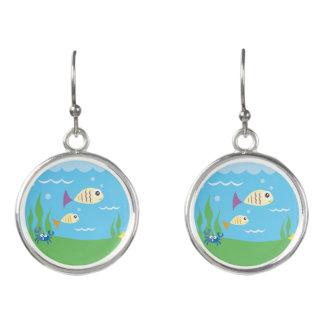 Niedliches Unterwasserozean-Seeaquarium Ohrringe