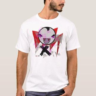niedliches Vampireentwurfsgrau mit roten T-Shirt