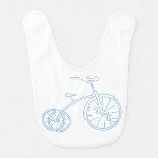 Niedliches Vintages Baby-Blau-Dreirad Babylätzchen