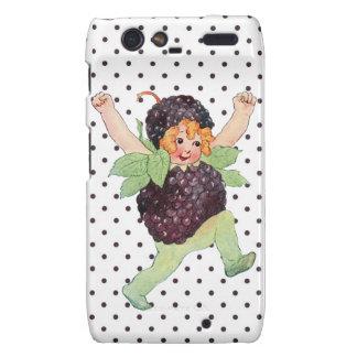 Niedliches Vintages BlackBerry-Mädchen Motorola Droid RAZR Cover
