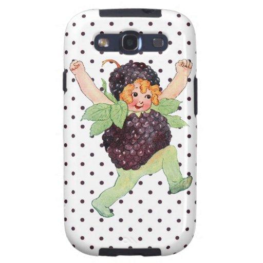 Niedliches Vintages BlackBerry-Mädchen Hülle Fürs Galaxy SIII
