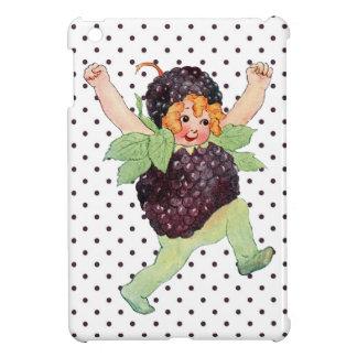 Niedliches Vintages BlackBerry-Mädchen iPad Mini Hülle