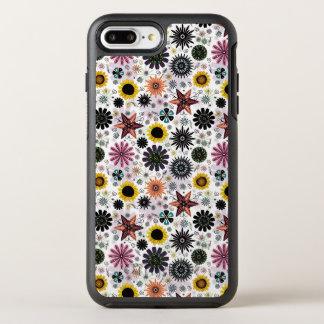 Niedliches Vintages nahtloses Blumenmuster OtterBox Symmetry iPhone 8 Plus/7 Plus Hülle