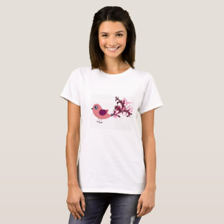 Niedliches Vogel-grafische Kunst-T-Shirt T-Shirt