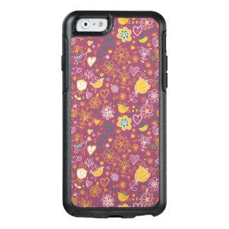 Niedliches Vogel-Muster zwei OtterBox iPhone 6/6s Hülle