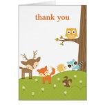 Niedliches Waldtier danken Ihnen Karten