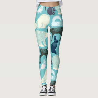 Niedliches Waldtier-Muster Leggings