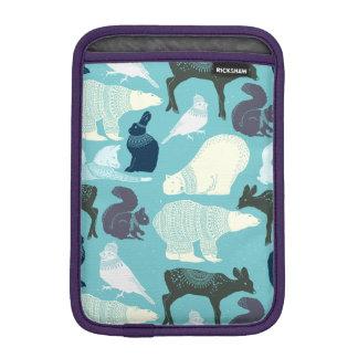 Niedliches Waldtier-Muster Sleeve Für iPad Mini