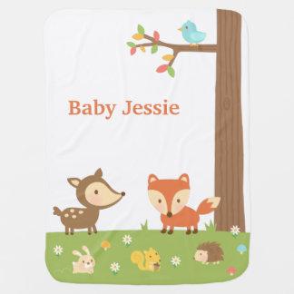 Niedliches Waldwaldtier für Babys Kinderwagendecke