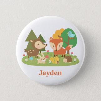 Niedliches Waldwaldtier für Kinder Runder Button 5,1 Cm
