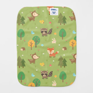 Niedliches Waldwaldtiermuster für Babys Spucktuch