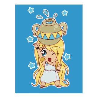Niedliches Wassermann-Mädchen Postkarten