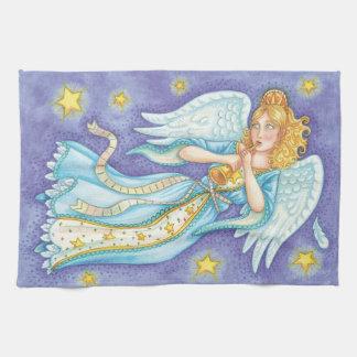 Niedliches Weihnachten, Musiker-Engel, der ihr Geschirrtuch