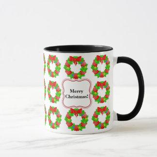 Niedliches Weihnachten windt gemustertes Tasse