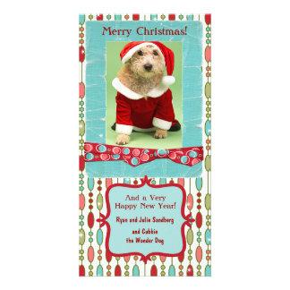Niedliches Weihnachtenwulstiges Whimsy Foto Karte