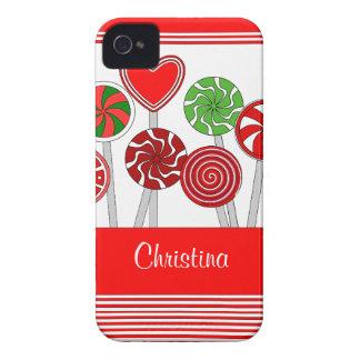 Niedliches Weihnachtslutscher-BlackBerry-mutiger iPhone 4 Hülle