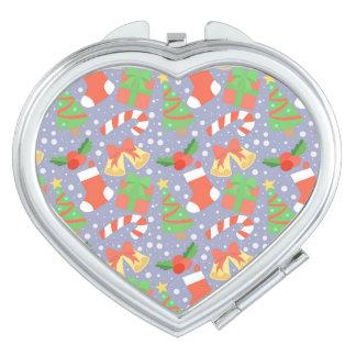 Niedliches Weihnachtsmuster Taschenspiegel