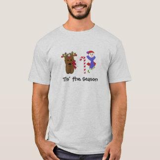 Niedliches Weihnachtsren und -Snowman T-Shirt