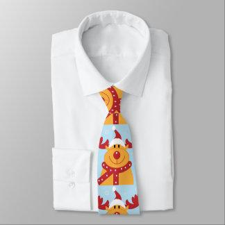 Niedliches Weihnachtsrudolph-Ren trägt Krawatte