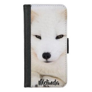 Niedliches weißes Gesicht des arktischen Fuchses, iPhone 8/7 Geldbeutel-Hülle