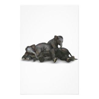 niedliches wenig Babyelefantspielen Briefpapier