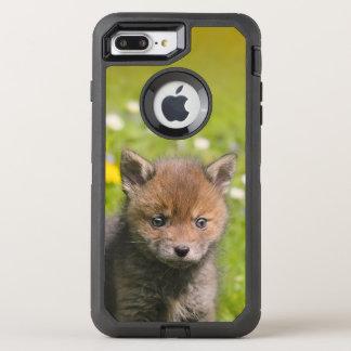 Niedliches wildes Baby-TierFoto roten Fox CUB - OtterBox Defender iPhone 8 Plus/7 Plus Hülle
