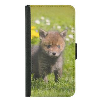 Niedliches wildes Baby-TierFoto roten Fox CUB - Samsung Galaxy S5 Geldbeutel Hülle