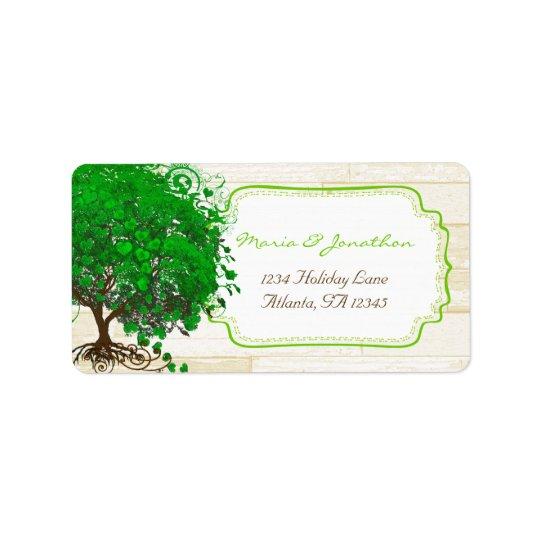 Niedliches wunderliches Smaragdgrün-Herz trieb Adress Aufkleber
