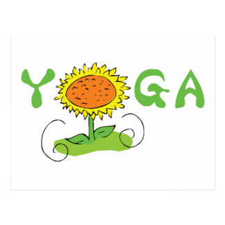 Niedliches Yoga Postkarte