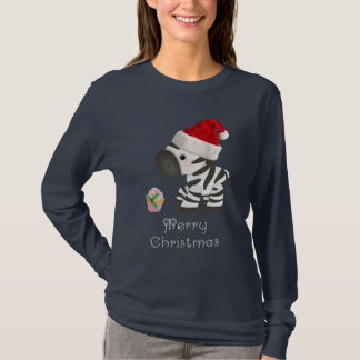 Niedliches Zebra-u. Kuchen-Weihnachten T-Shirt