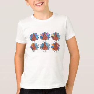 Niedliches Zeichenstift-Truthahn-KinderShirt T-Shirt