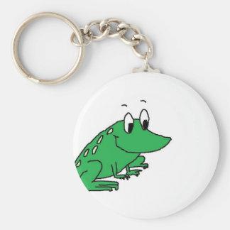 Niedliches Zeichnen des grünen Frosches Schlüsselanhänger
