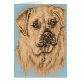 Niedliches Zeichnen weißen Labrador-Hundes Karte