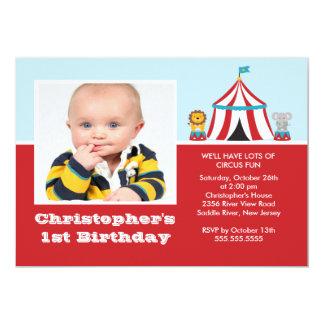 NIEDLICHES Zirkus-Kindergeburtstag-Party Einladung