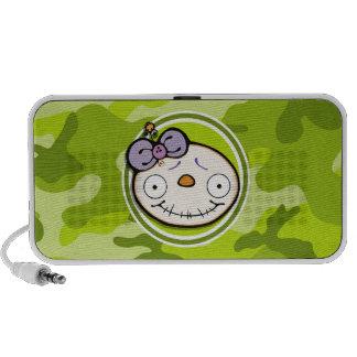 Niedliches Zombie-Mädchen hellgrüne Camouflage Mp3 Speaker
