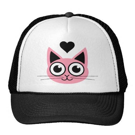 Niedlichste rosa Katze Truckermützen