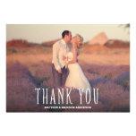 Niedlichster Dank Wedding | dankt Ihnen Foto-Karte Personalisierte Einladungskarte