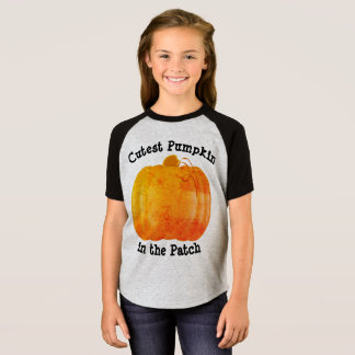 Niedlichster Kürbis im Flecken T-Shirt