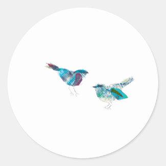 Niedlichster Twitter-Blau-Vogel Runder Aufkleber